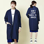 2NEFIT Korea Women's Trench Coat Denim Jacket Outerwear Windbreaker Parka