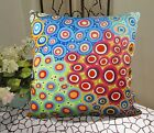 VELVET PILLOW COVER Blooms Abound FOLK ART Abstract Various Sizes Karla Gerard