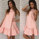 Loose Party Dress Mini Sexy Women Dresses Party Dress Sleeveless Ruffles