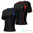 Activo Mens Short Sleeve Compression Top Base Layer Briefs Pants Running Fitness