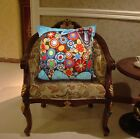 Blooming Sheep VELVET PILLOW COVER  FOLK ART Abstract KARLA GERARD