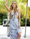 Elan USA Cut out Spaghetti Strap Maxi Dress in Pastel Paisley Print