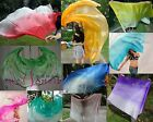 "various fading colors, 3yd*45"" belly dance silk veils,5mm paj silk,edges rolled"