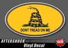 Don't Tread On Me Sticker Gadsden Flag Oval Decal
