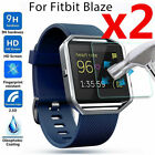 2 Pcs Premium Tempered Glass Screen Protector Guard Films For Fitbit Blaze Watch