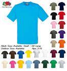 Boys Girls Plain T-Shirt School P.E. Sports GYM Ages 1-15 18 Colours