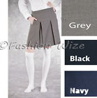 Girls Pleated School Skirt Grey Black Navy Age 3 4 5 6 7 8 9 10 11 12 13 14 1516