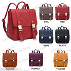 RED PURPLE BALCK SOIL BROWN BLUE Faux Leather Rucksack Backpack School Bag #341
