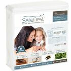 "12""- 15"" SafeRest Premium Waterproof Zippered Bed Bug Proof Mattress Encasement image"