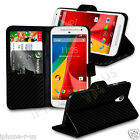 Carbon Fiber Leather Wallet Stand Flip Case Skin Cover, And Screen Protector