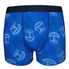 Everton FC Official Soccer Gift 1 Pack Boys Crest Boxer Shorts