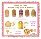 1 x unpainted wood wooden MDF fairy door window sign cut-outs -CHOOSE YOUR STYLE