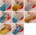 Cartoon Disney Bling Liquid Quicksand Dynamic Back Case Cover For  iPhone