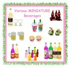 Miniature beverages -CHOOSE YOUR STYLE- dollhouse fairy garden beach wine beer