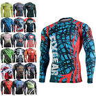 mens womens skin body compression under baselayer tight shirts print top S~4XL