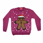 Ladies & Men Xmas Jumper With Gingerbread Man Festive Christmas Crimbo Wooly