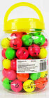 SMILEY FACE RAINBOW  YELLOW GREEN RED PINK  BOUNCY BALLS KIDS BALL