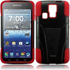 T-Stand Black Red Combo Case Cover For KYOCERA HYDRO ICON C6730 C6530 Hydro Life
