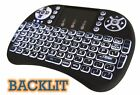 2.4G RF Mini Wireless Keyboard Mouse Touchpad Android TV BOX PC BACKLIT Lighting