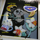2-5pcs lily bear beads Rhinestones sequins clothes brooch appliques patches 3581