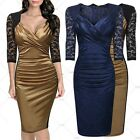 Summer Sales Ladies Lace Sleeve Sexy Pencil Dress Elegant Evening Party Dress