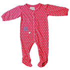Rockin' Baby Girls Pink Polka Dot Owl Embroidered Footie