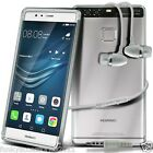 Ultra Thin Clear Gel Case Cover✔In Ear Stereo Headset for Huawei P9 Lite P9Lite