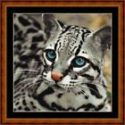 OCELOT -14 COUNT CROSS STITCH CHART PDF/PRINTED  FREE PP WORLDWIDE