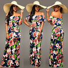 Women Summer Long Floral Printed Clubwear Evening Party Maxi Cocktail Dress A
