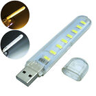 Portable USB 5730 SMD 8 LED Lamp Light for PC Desktop Laptop Notebook Reading