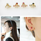 The Korean Style lovely  jewelry studded kiss earring girl Stud Earrings