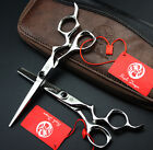 """6"""" Curved Handle Hair Cutting Thinning Scissors Hairdressing Barber Shears 440C"""