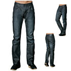 Mens Denim Jeans Slim Fit Straight Leg Casual Mid Rise 100% Cotton Black Pants