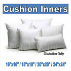 12/14/16/18/20/24 INCH - SCATTER CUSHION PADS/INNERS NON-ALLERGENIC FIBRE FILLED