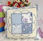 Shabby Embroidered Quilted Cotton Cushion Cover Pillow Case Sham Patchwork Frill