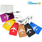 Aluminum Luggage Tag Boarding Aircraft Suitcase Tag  Holder Hangtag Travel Kit W