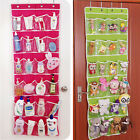 Hot 24 Pockets Over Door Shoe Rack Storage Hanging Bag Tidy Organizer Hanger
