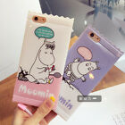 Fresh Cute cartoon Moomin Lovers strap Candy TPU Case Cover for iPhone 6 6S Plus