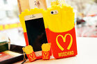 3D McDonald's Fries Silicone Phone Back Cover Case For iPhone 6 /6 Plus