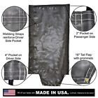 Side Roll Tarp with Tail Flap for End Dump Trailer Bed - 7.5oz Closed Mesh