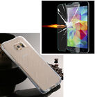 Hybird Clear Soft TPU Cover Case +Tempred Glass Protector For Various Phone