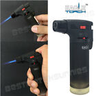 Eagle Jet Torch Gun Lighter Adjustable Flame Windproof Butane Refillable - BLACK