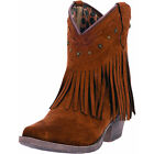 Dingo Womens Brown Fringe Cassidy Cowgirl Boots