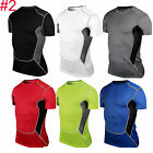 Mens Compression Wear Under Body Armour Baselayer Short Sleeve T-Shirt Sport Tee