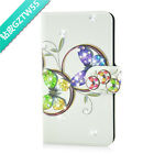 Diamond Colorful Butterfly Design PU Leather Flip Case Cover For LG Google