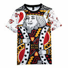 Poker King Queen Bandana Graphic Playing Cards 3D Print Loose Men T-shirt Tops