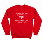 Can I Refill Your Eggnog? Moose Glass National Lampoons Red Crewneck Sweatshirt