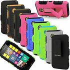 Full Body Armor Case Belt Clip Holster Shockproof Cover For Nokia Lumia 635 630