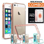 iPhone SE 5 5S Case Cover, TAGGSHIELD Crystal Bumper+GLASS Screen Protector