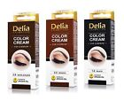 DELIA Henna Color Cream Eyebrow Tint Kit Set Black, Brown, Dark Brown Dye